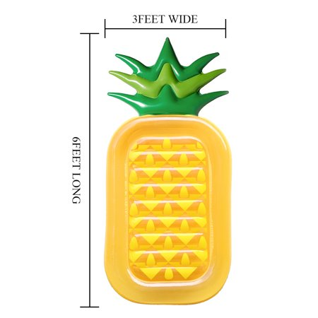 Giant Inflatable Pineapple Float Sun Lounger Lilo Swimming Pool Beach Air Bed for Children and Adults