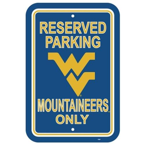 Fremont Die 50273 West Virginia Mountaineers- 12 inch X 18 inch Plastic Parking Sign