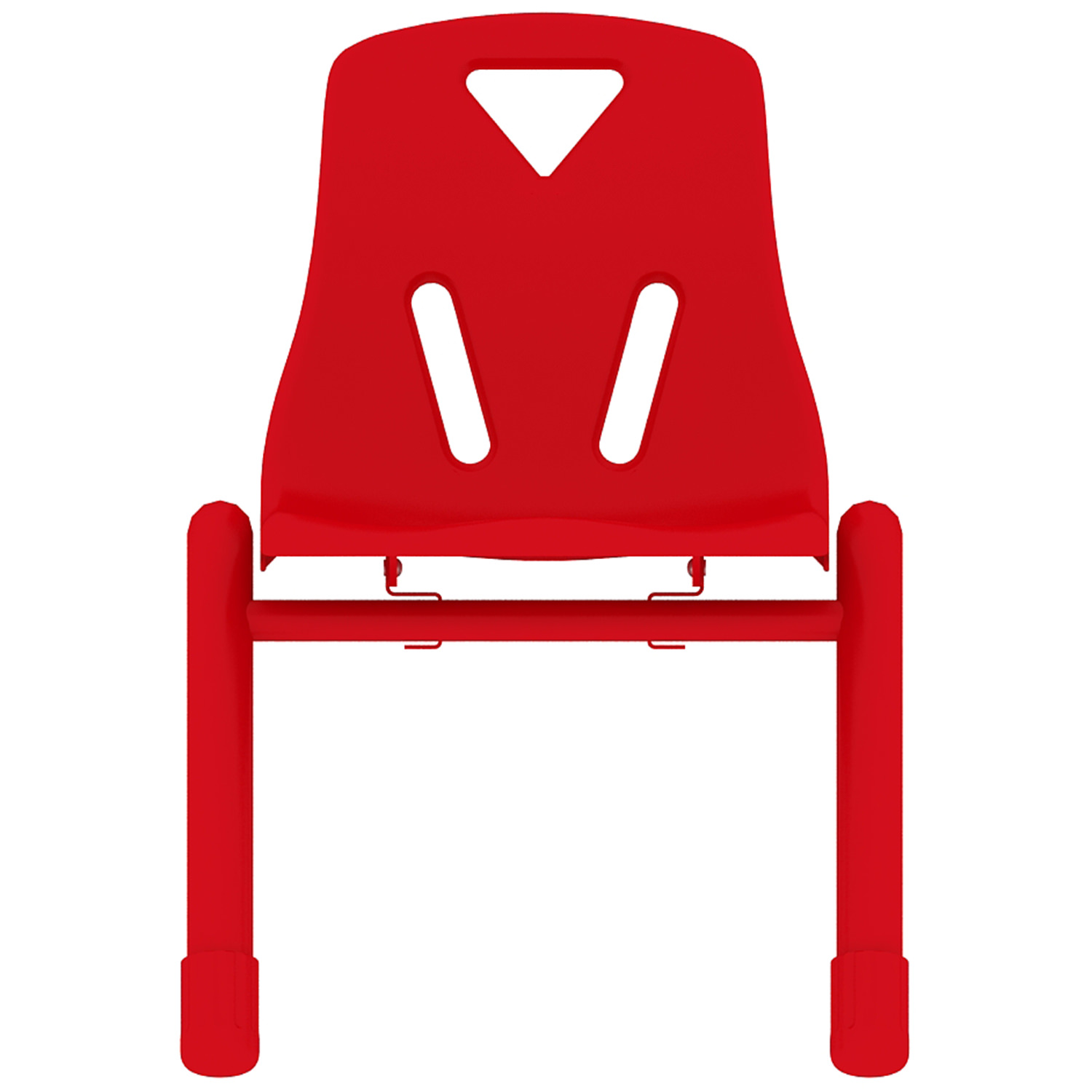 "2xhome - Red - 12"" Seat Height Modern Kids Plastic Stacking School Chairs Activity"
