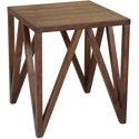 Craft and Main STO-01281 Old World Chestnut Bali Side Table