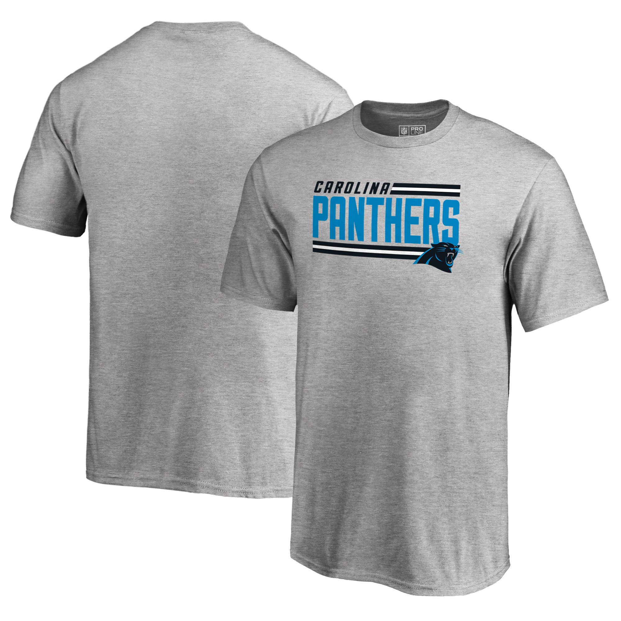 Carolina Panthers NFL Pro Line by Fanatics Branded Youth Iconic Collection On Side Stripe T-Shirt - Ash