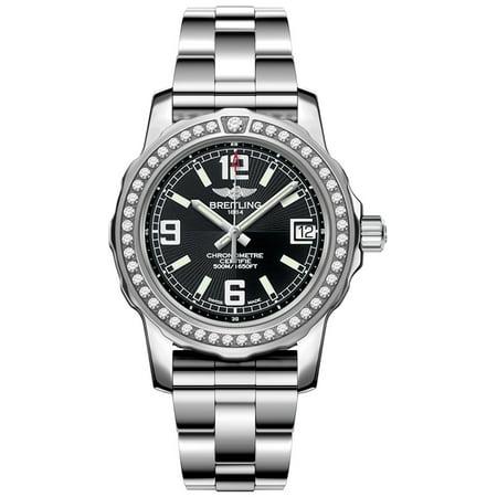Breitling Colt Lady A7738753/BB51-158A Breitling Aeromarine Colt 33MM Womens Diamonds Bezel Watch A7738753/BB51 Free Overnight Shipping