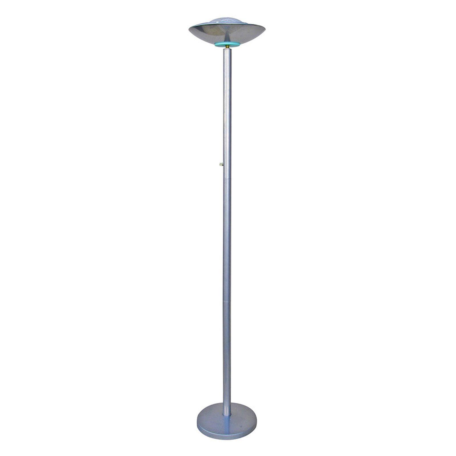 Floor Lamp Modern Halogen Torchiere Tall Silver Light