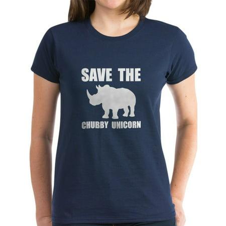 3564589a CafePress - CafePress - Chubby Unicorn Rhino T-Shirt - Women's Dark T-Shirt  - Walmart.com