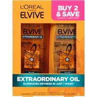 L'Oreal Paris Extraordinary Oil Nourishing Shampoo and Conditioner, Elvive, 2 COUNT