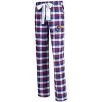Kansas Jayhawks Concepts Sport Women's Piedmont Flannel Pants - Royal/Red