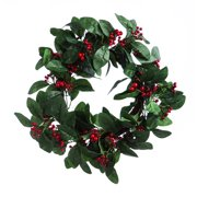 Holly Berry Wreath, 24""