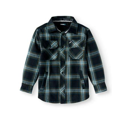 bcfe9cde5 Tony Hawk - Big Fleece Lined Flannel Jacket (Big Boys) - Walmart.com