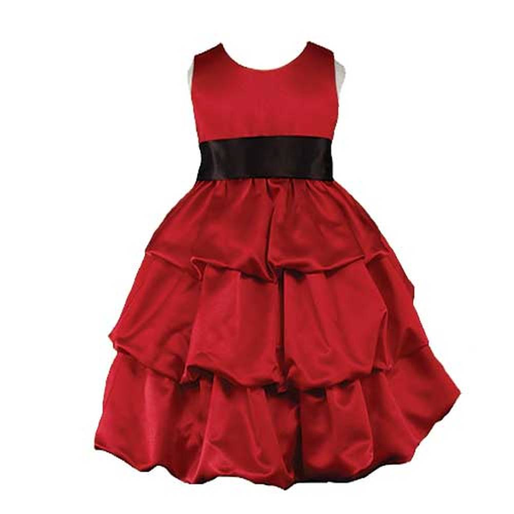 Good Girl Size 8 Red 3 Tier Special Occasion Bubble Dress