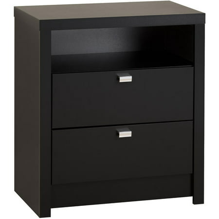 Prepac series 9 designer tall 2 drawer nightstand in black How tall is a nightstand
