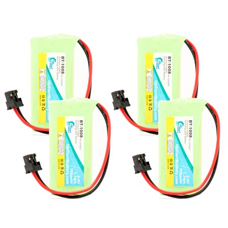4x Pack - Uniden DECT2185-2 Battery - Replacement for Uniden Cordless Phone Battery (700mAh, 2.4V, NI-MH) - image 4 of 4