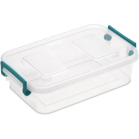 Sterilite 2 7 Qt Modular Latch Box Teal Sachet Availabe