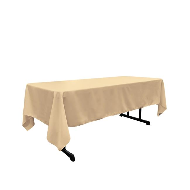 Tcpop60x144 Khakip33 Polyester Poplin, What Size Tablecloth For A 30 X 72 Table
