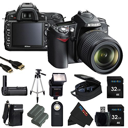 Nikon D90 12.3MP DX-Format CMOS Digital SLR Camera with 1...