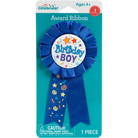 Birthday Boy Award Badge, Royal - Royal Blue Cupcakes