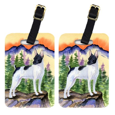 Pair of 2 Rat Terrier Luggage Tags