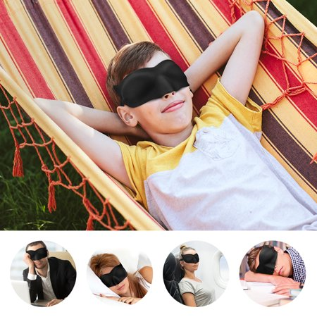 LANGRIA Venetian Eye Mask for Sleeping with 3D Contoured Cat-Eye Shape for No Pressure on the Eyes Lightweight and Comfortable Made of Memory Foam with Adjustable Straps Blindfold Design (Black) - Shapes 3d