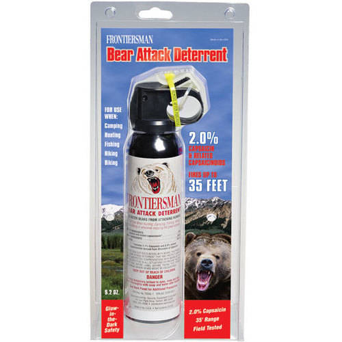 Frontiersman Bear Spray, Maximum Strength with Belt Holster & Industry Maximum 35' (10.6m) Range (9.2 oz)