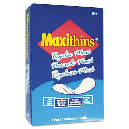 HOSPECO Maxithins Vended Sanitary Napkins, 100/Carton Folded Maxithins Pads