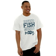 Fishing Mens T-Shirts T Shirts Tees Tshirt Beer Fish Beer In That Order Funny Hobby Drinking