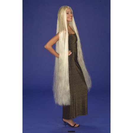 Lady Godiva Extra Long Blonde Adult Costume - Long White Blonde Wig