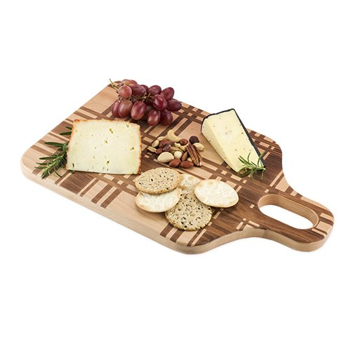 Cheese Board, Small Beech Wood Plaid Chopping Cutting Serving Cheeseboards