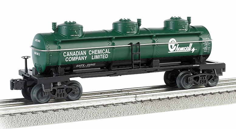 Bachmann Industries 3 Dome Tank Car Chemcell O Scale Train by Bachmann Trains