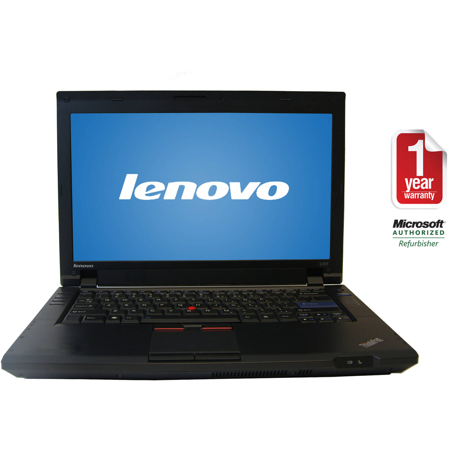 "Refurbished Lenovo 14.1"" L412 Laptop PC with Intel Core i5-520M Processor, 6GB Memory, 500GB Hard Drive and Windows 10 Home"