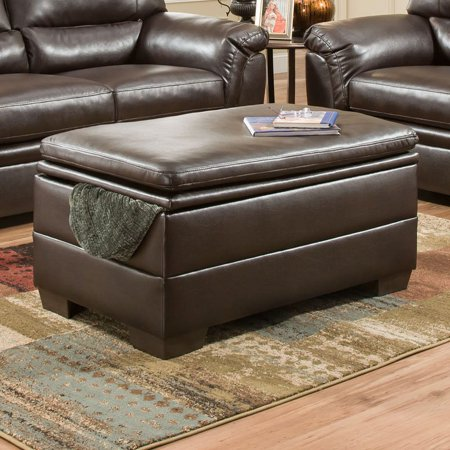 Simmons Roman Chocolate Storage Ottoman - Simmons Roman Chocolate Storage Ottoman - Walmart.com