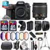 nikon d7500 dslr camera + af-p 18-55mm vr + 6pc graduated filter - 48gb bundle