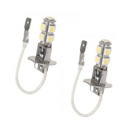 2x H3 9-LED 12V Fog Light Bulbs/Driving Lights Bright White