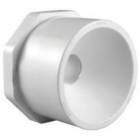 White Reducing Bushing (Charlotte Pipe Reducing Bushing 1-1/2
