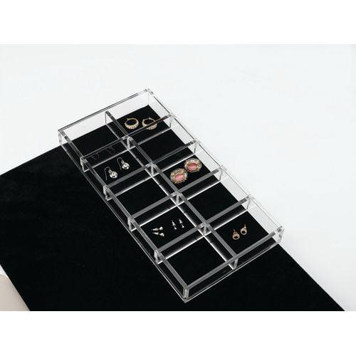 """Rev-A-Shelf CA-LGORG-1 CA Series 11.625 x 6"""" Clear Acrylic Jewelry Organizer"""