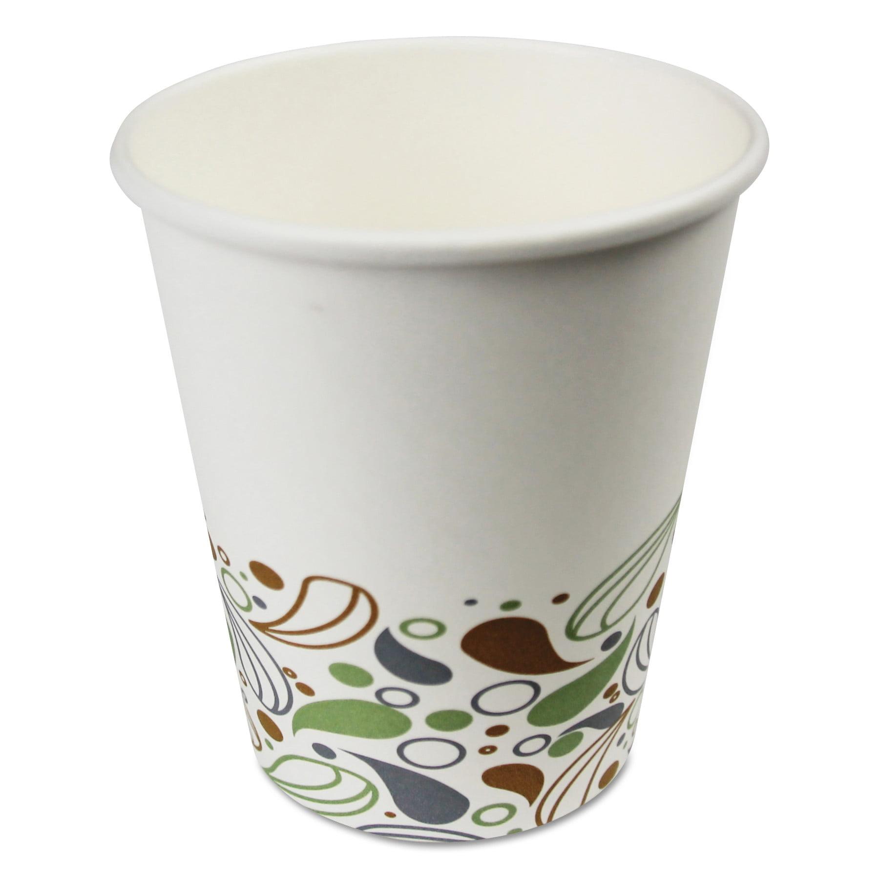 Boardwalk Deerfield Printed Paper Hot Cups, 8 oz, White, 1000/Carton -BWKDEER8HCUP