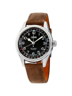 Oris Big Crown Black Dial Leather Strap Ladies Watch 75477494064LSLITBRN