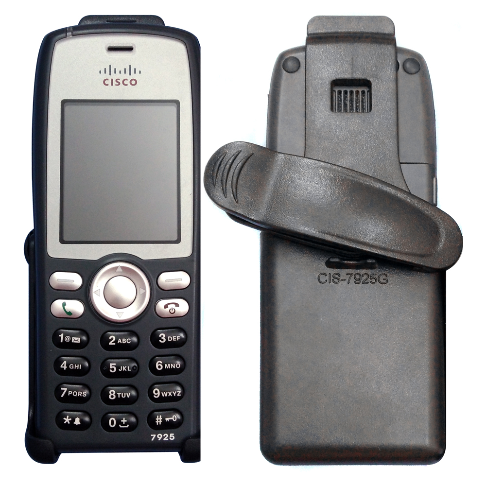 For Cisco 7925G 7925G-EX IP Phone Black Swivel Belt Clip Holster Carrying Case