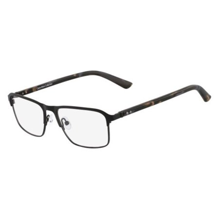 Calvin Klein CK7385-001-53 Rectangle Men's Black Frame Clear Lens Eyeglasses NWT