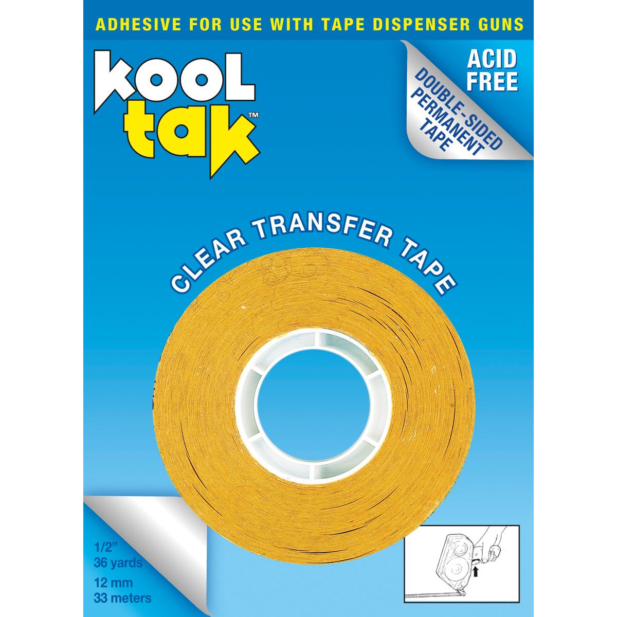 "Kool Tak Permanent Clear Dispenser Tape-.5""X36yd, For Use In KTGATS50 - image 1 de 1"