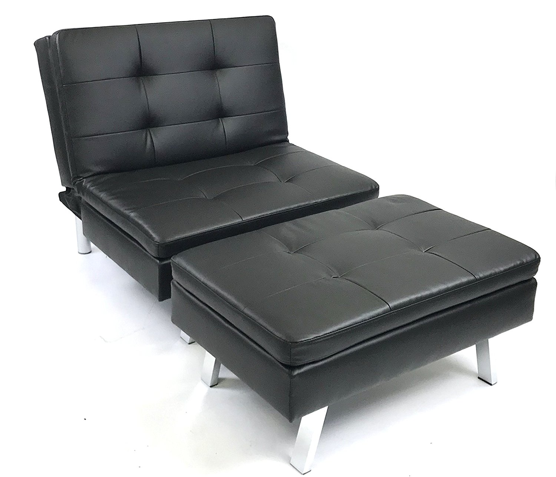 store bed en ip lounger viscologic megan black sofa futon futons leatherette austin