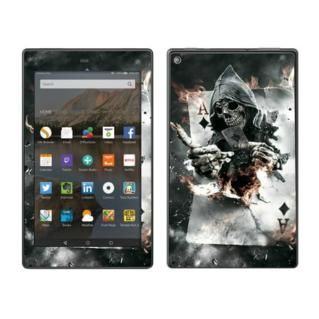 Skins Decals For Amazon Fire Hd 8 Tablet / Ace Diamonds Grim Reeper Skull