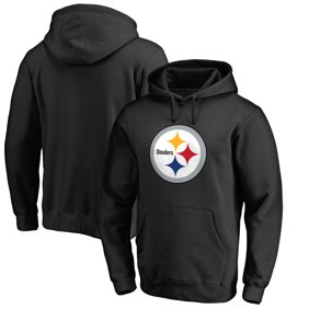 87000265daf Pittsburgh Steelers NFL Pro Line Primary Logo Hoodie - Black