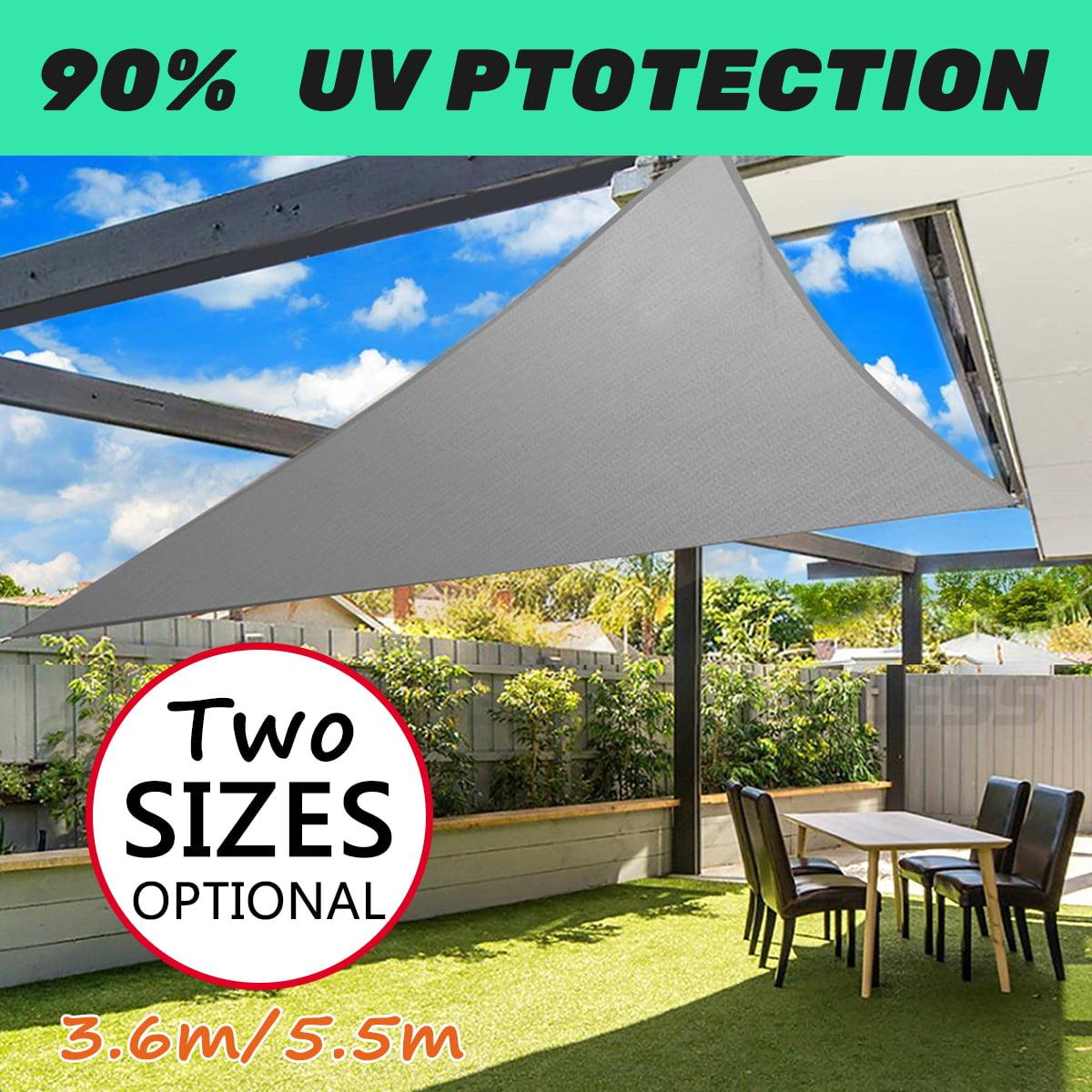 3.6m/5m Triangle Waterproof Sun Shade Shield Sail Garden Patio Sun-resistant Awning Canopy Sunscreen Cover