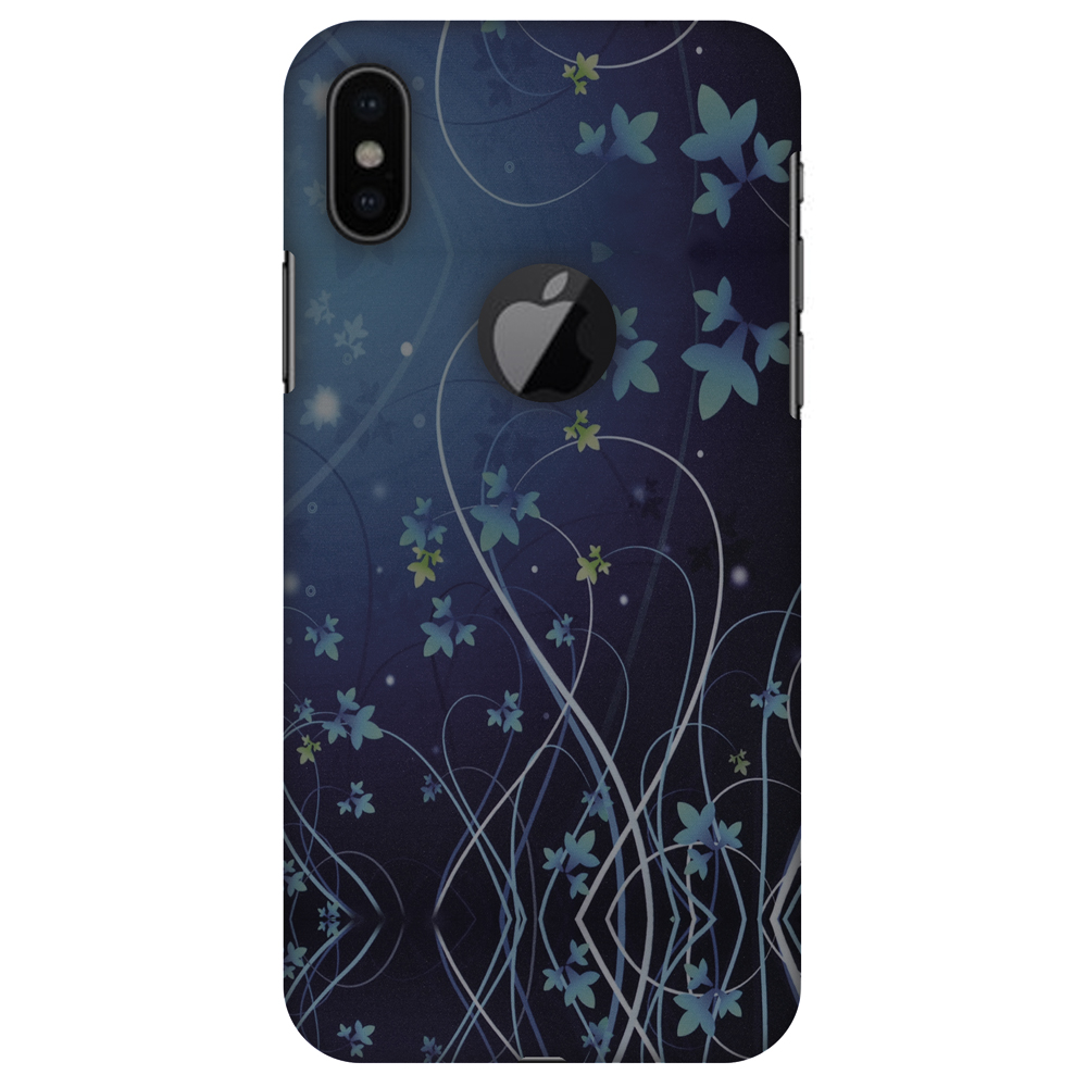 iPhone X Case - Midnight Lily, Hard Plastic Back Cover. Slim Profile Cute Printed Designer Snap on Case with Screen Cleaning Kit