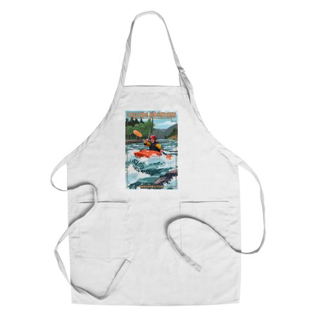 Cascade Mountains, Washington - Kayak Scene - Lantern Press Poster (Cotton/Polyester Chef