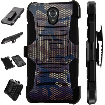 - For Alcatel idealXTRA | 1X Evolve (2018) | TCL LX Case Armor Hybrid Silicone Cover Stand LuxGuard Holster (Camo Mesh