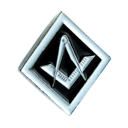 Square Lapel Pin (Square and Compass Freemasonry Lapel Pin Alternative Clothing The Illuminati Cult Culture)