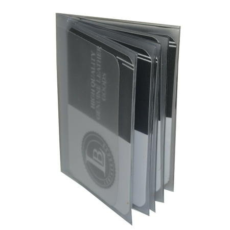 Plastic Insert for bifold and trifold wallets - 10 Pages - Set of 2 (Tall Wallet Insert)