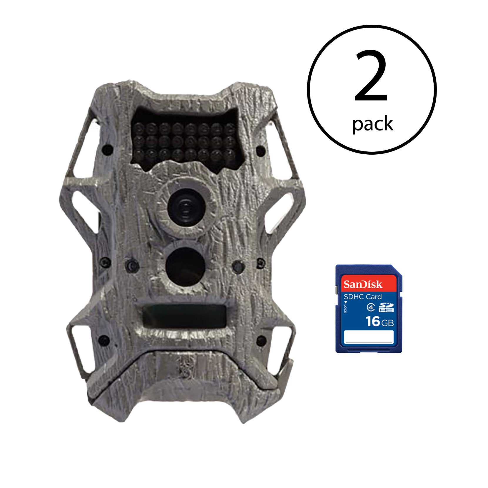 Wildgame Innovations Cloak Pro Rapid Trigger 12MP Game Camera, 2 Pack + SD Cards