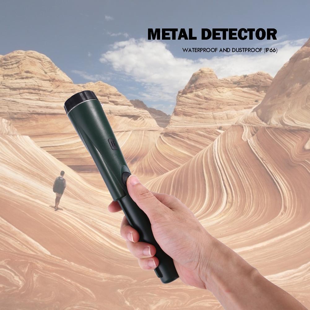360° Auto Waterproof Handheld Metal Detector Battery Pinpointer Positioning Bar