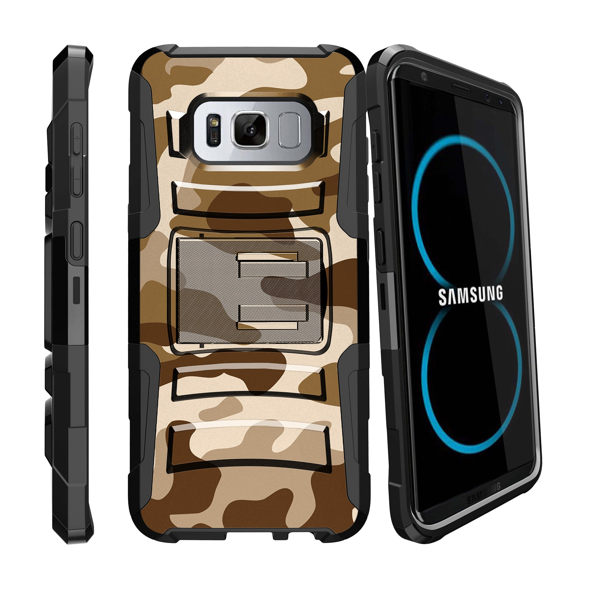 Case for Samsung Galaxy S8 Plus | S8 Plus Case  [ Clip Armor ] Heavy Duty Case with Belt Clip & Kickstand Camo Collection